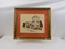 Vintage gerahmt Aufdruck von-kinswood Turm Haus * Captain Schloss * - Monterey, CA
