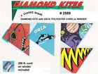 CASE OF 24 DIAMOND PLASTIC KITES WITH WINDER  CORD - NEW    ZHI-2589