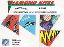 CASE OF 24 DIAMOND KITES WITH WINDER & CORD - NEW - FREE SHIPPING      #ZHI-2589