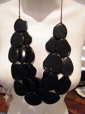 TAGUA 100% organic natural IVORY BLACK AMIGAS 3 STRAND  NECKLACE NWT