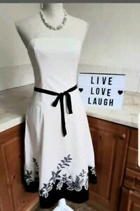 K13  COAST Ladies Cream Black Floral All occasion Dress size 10