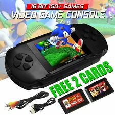2.8 Inch 16 Bit Handheld LCD Video Retro Game Console PXP3 Built In Games Black