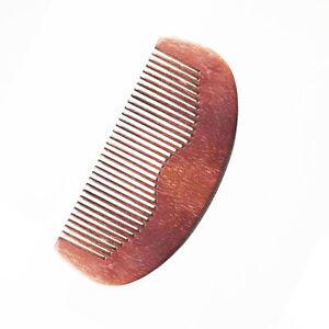 "Wooden Beard Comb 4"" Inch Anti-Static Peach Wood Facial Face Hair Mustache NEW"