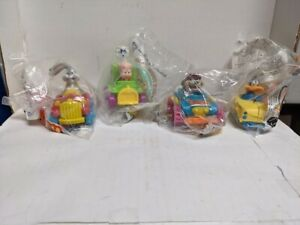 Looney Tunes Quack-Up Cars McDonald's 1992 Happy Meal Toys Set of 4 Bugs Bunny