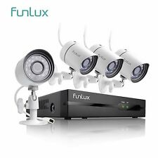 Funlux 1080P 4CH NVR 4 720p HD Outdoor Video Network Home Security Camera System