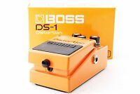 BOSS DS-1 Distortion Guitar Effects Pedal Silver Label w/Box From Japan DS1