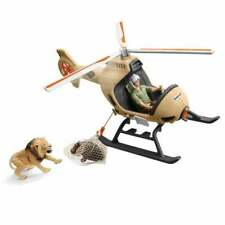 Schleich Wild Life Animal Rescue Helicopter with Ranger and Hippopotamus Calf