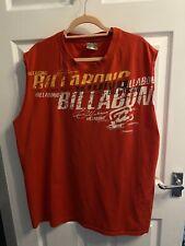Mens Billabong Sleeveless Tshirt 2XL Red