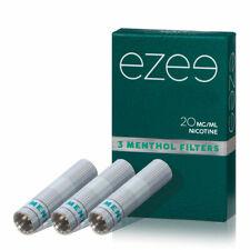 12 Ezee E-Zigarette Filter / Depots Menthol Geschmack 0, 12, 20 mg Nikotin