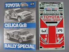 Vintage Tamiya 1/12 RC Toyota Celica GrB Manual Instruction & Decal Sticker 5864