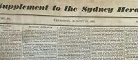 1833 Sydney Morning Herald - 2 pages - extremely rare! ORIGINAL free shipping