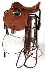 16 Inch All Purpose English Saddle Package - Medium Chestnut - All Leather