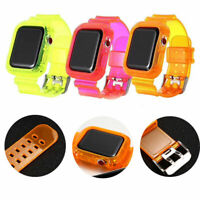 Sport Strap for Apple Watch Band 6 SE 1 2 3 Silicone Transparent for Iwatch DE
