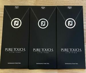 (3) FootJoy Pure Touch Limited Edition Men's Golf Glove Pack Medium (M) #84247
