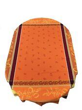 Jacquard Woven Teflon Coated Tablecloth Citronnier Lemons Orange 63 X 98.5France