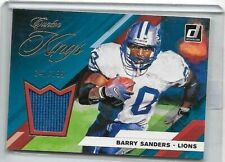 BARRY SANDERS 2018 PANINI DONRUSS CANTON KINGS GAME USED JERSEY#/199