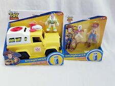 TOY STORY Disney Pixar Imaginext BUZZ WOODY, FORKY & PIZZA TRUCK