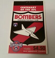 1996 Australian STAMPS Centenary of AFL Booklet - ESSENDON Bombers MNH