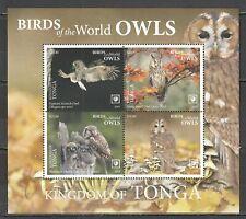NW0429 2019 !!! SALE TONGA FAUNA BIRDS OWLS MICHEL 78 EURO BL132 MNH