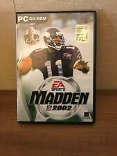 VIDEOGIOCO GAME GIOCO PC MADDEN NFL 2002 FOOTBALL MANUALE ITALIANO