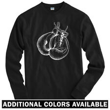 Boxing Gloves Long Sleeve T-shirt - LS Men S-4X - Boxer...