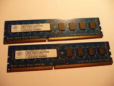 8 GB: 2x 4GB NANYA DDR3 1333 RAM PC3-10600U 2Rx8 NT4GC64B8HG0NF-CG