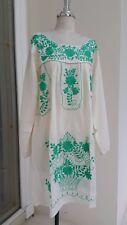 Hand Embroidery Oaxacan Mexican Vintage Inspired Sundress,Beach Wedding Dress