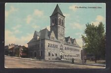 USA 1911 TWO CITY & GOVERNMENT BUILDINGS IN LANCASTER OHIO POSTCARDS USED