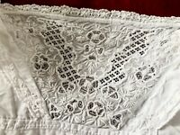 Exquisite Hand Embroidered White Lawn Child / Dolls Dress