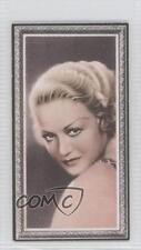 1936 Godfrey Phillips Stars of the Screen Tobacco Base #43 Wynne Gibson Card 0v9