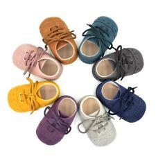 Baby Toddler Boy Girl Pram Suede Boots Moccasin Crib Anti-Slip Shoes Soft Kid UK