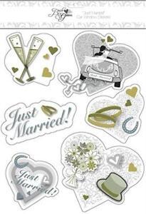 Bride & Groom Wedding Car Window stickers