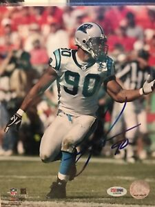 Julius Peppers Signed Carolina Panthers 8x10 Photo PSA