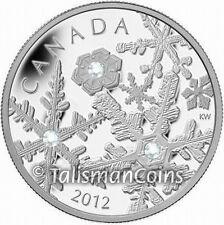 Canada 2012 Holiday Snowflake Snowstorm $20 Silver Proof w/ Swarovski Crystals