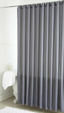 Plain Dyed 100 Polyester Bathroom Single Shower Curtains Available in 7 Colours Grey