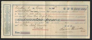 MEXICO 1912 CONTRACT & RECEIPT WITH REVENUE STAMPS FOR PAYMENT OF 600 PESOS
