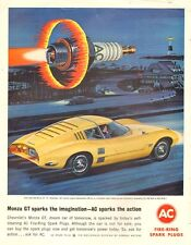 1964 vintage AD AC Spark Plugs Chevrolet Monza GT 'Car of Tomorrow' 051017