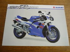 SUZUKI GSX  R 1100 MOTORBIKE BROCHURE, POST FREE (UK)