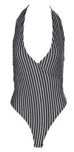 U21 New Womens Halter Neck Sleeveless Ladies Leotard Top Bodysuit In Plus Size
