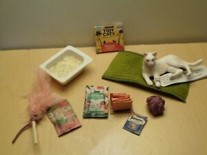 dollhouse miniature White Cat lot