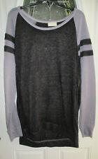 2X Bobbie Brooks Woman/'s White with Black Long Sleeve Shirt Plus Size Top