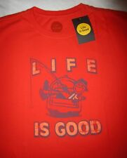 LIFE IS GOOD Fish Fishing Jake Boat Boating Mens SS T Shirt NWT NEW Size L Large