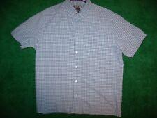 Men's Urban Pipeline Plaid Short Sleeve Button Down Camp Shirt Poly Blend Size L