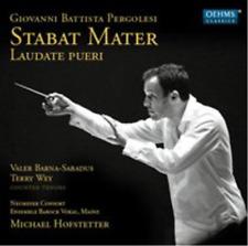 PERGOLESI, STABAT MATER - LAUDATE PUERI, SEALED 19 TRACK CD ALBUM FROM 2012