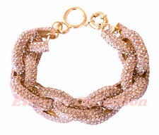 Sale - Light Amethyst Chunky Pave Classic Link Chain Bracelet w/1,500+ Crystals