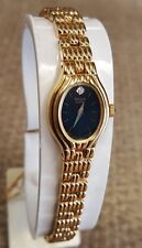 LADIES PULSAR QUARTZ WATCH ,BLACK DIAL,GOLDPLATED, COMES WITH 1 YEAR WARRANTY