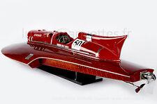 Maquette bateau Ferrari Hydroplane 75 cm Modélisme Motorisable Wooden Model Boat