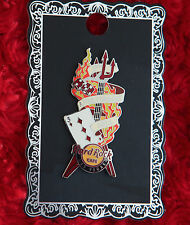 Hard Rock Cafe Pin Las Vegas 3rd Anniversary dice Pitchfork Devil guitar logo le
