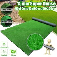 Super Dense Artificial Turf Grass Synthetic Realistic Mat Rug Fake Lawn
