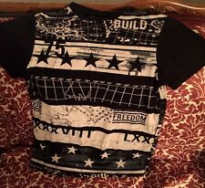 Men's Black Short-Sleeve Graphic Tee by Carbon (Size S)